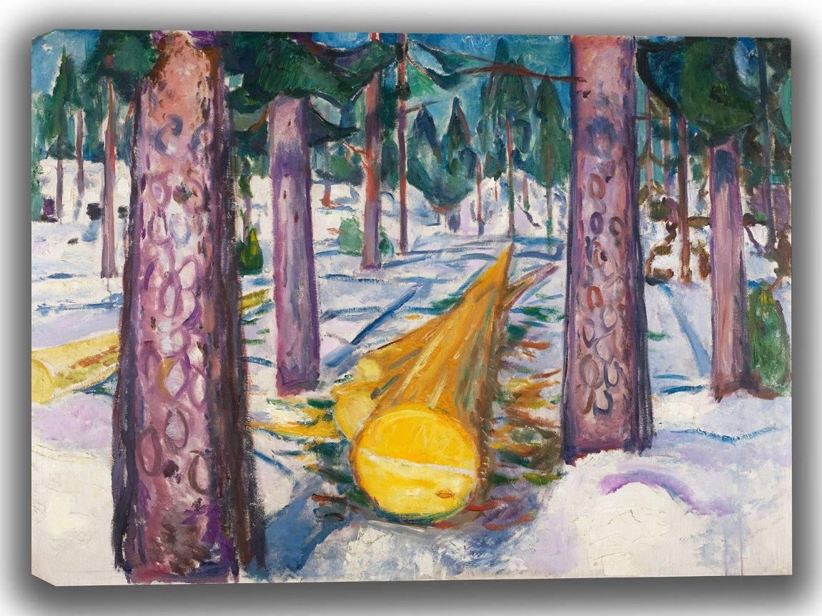 Munch, Edvard: The Yellow Log. Fine Art Canvas. Sizes: A4/A3/A2/A1 (0087)